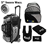 KAZE SPORTS 3 Ball Bowling Roller with Color Match Add On Spare Tote and Accessories Pack (Black) Review