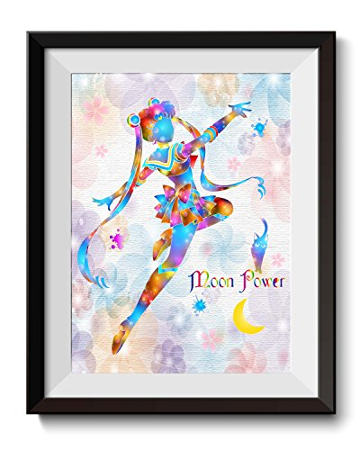 - Uhomate Pretty Soldier Sailor Moon Abstract Art Home Canvas Wall Art Anniversary Gifts Baby Gift Inspirational Quotes Wall Decor for Living Room Wall Decorations for Bedroom C012 (8X10)