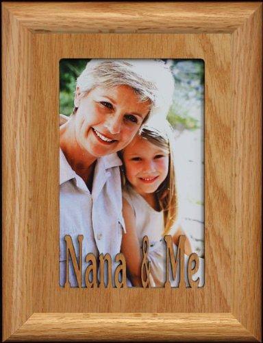5x7 nana me portrait picture frame holds a 4x6 or cropped 5x7 photo - Nana Frame