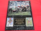 Jim Brown Cleveland Browns 2 Card Collector Plaque w/8x10 VINTAGE MUD Photo