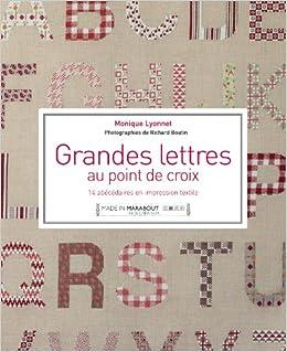Grandes Lettres Au Point De Croix Amazonfr Monique