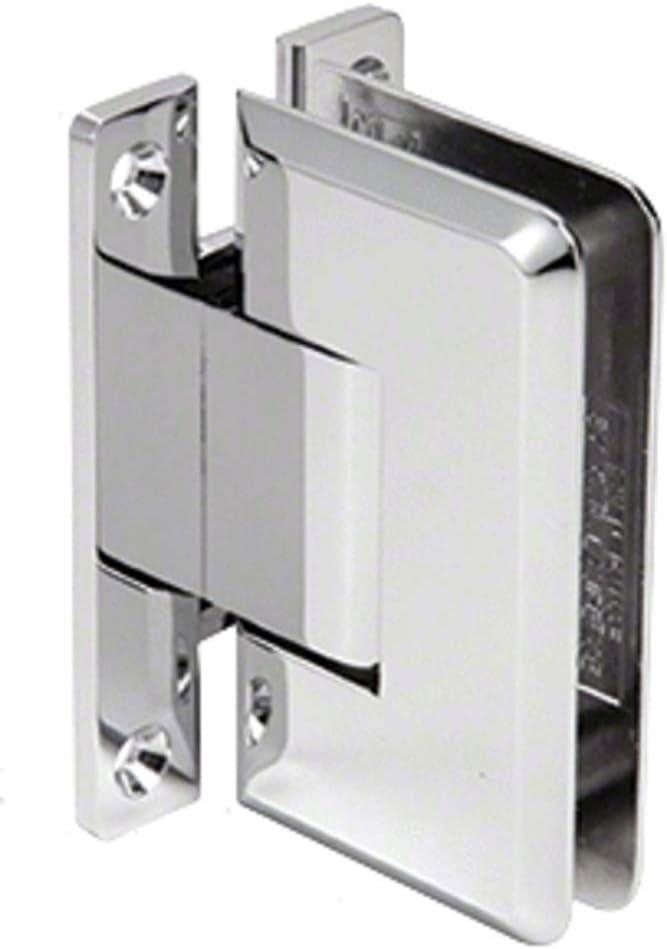 CRL Pinnacle 037 Series Chrome Wall Mount Full Back Plate Standard Hinge