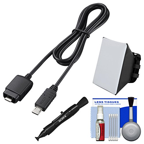 Sony VMC-MM1 Multi-Terminal Connection Cable with Flash Soft Box + Cleaning Kit (Hot Cable Shoe 01)