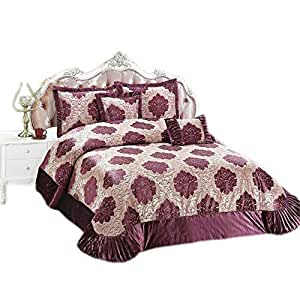 Master Super King Size, Velvet,Multi Pattern, Multi Color - Comforter Sets