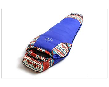 GUANG JUN Folk-Custom 3 Temporada Camping Momia Saco de Dormir Adulto al Aire Libre Camping Bolsa de Dormir Caliente Bolsa de Dormir,Blue: Amazon.es: ...