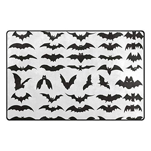 HEOEH Halloween Bat Clip Art Doormats Area Rug Rugs Non-Slip Floor Mat Indoor Outdoor 60x39 inch]()
