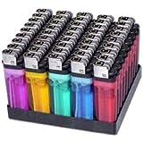 100 Cigarette Lighters Disposable Classic Lighter - Wholesale Pack Lot by MegaDeal