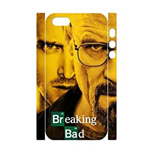 T-TGL(RQ) Iphone 5/5S 3D Hard Back Cover Case Breaking Bad with Hard Shell Protection