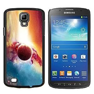 KLONGSHOP // Cubierta de piel con cierre a presión Shell trasero duro de goma Protección Caso - Planet Galaxy - Samsung Galaxy S4 Active i9295 //