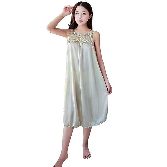 7272acf445 bigcity Sexy Women Summer Sleeveless Bowknot Night Dress Sleepwear  Nightwear Nightgown Women s Comfort Ice Silk Nightdress
