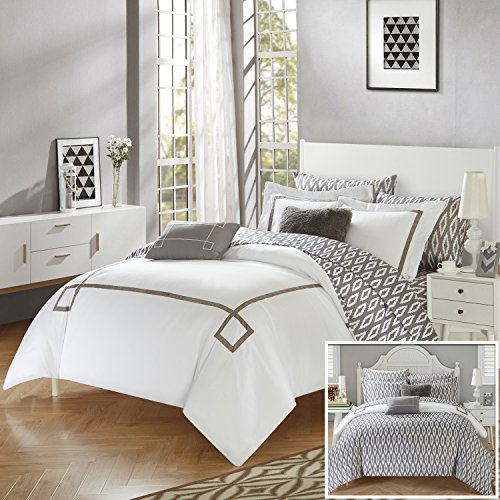 Perfect Home 9 Piece Sandrine Contemporary REVERSIBLE Queen