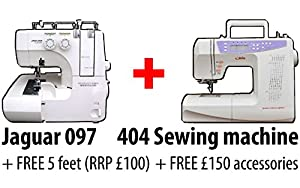 Bundle Jaguar 097 Overlocker 404 Sewing Machine Amazon
