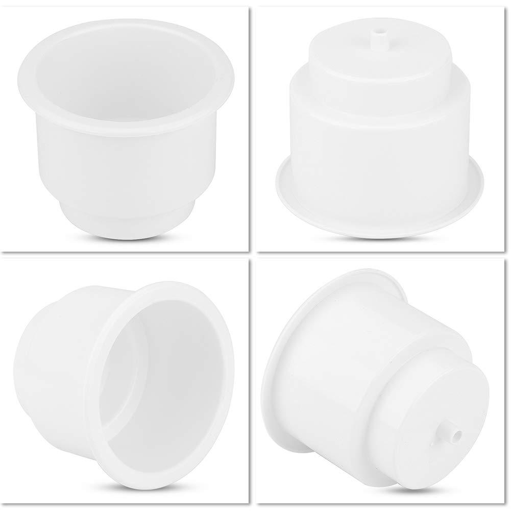 portabottiglie per tazza universale da barca per barche Marine RV con foro di scarico dellinserto bianca EBTOOLS Portabicchieri in plastica