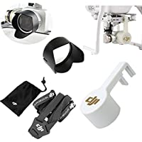 XSD MOEDL DJI Phantom 3 Professional & Advanced Shoulder Strap Belt Sling&Camera Lens Cap Protector with Gimbal Stabler Lock & Camera Lens Sun Hood Sunshade Cap