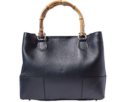 Florence Leather Market  Style 9138, Damen Schultertasche Schwarz schwarz