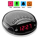 "Magnavox Digital Dual Alarm Clock AM/FM Radio,Dimmer,Snooze, 0.6"" Digital LED Display and Battery Backup Function"