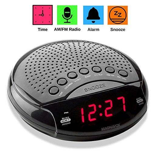 Magnavox Digital Dual Alarm Clock AM/FM Radio, Dimmer, Snooz