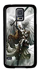 rubber Samsung Galaxy S5 cover Valkyrie Painting Art PC Black Custom Samsung Galaxy S5 Case Cover