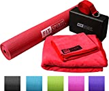 Fit Spirit Red Yoga Starter Set Kit - Includes 3mm 1/8