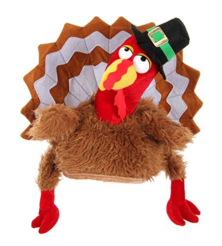 Turkey Gobbler Hat (Adult Or Child Gobbler Turkey Hat)