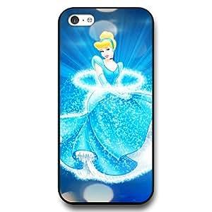 Personalized Cinderella Cartoon Hard Plastic Phone Case Cover for iPhone 5c - Black