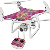 MightySkins Protective Vinyl Skin Decal for DJI Phantom 4 Quadcopter Drone wrap cover sticker skins Magenta Summer