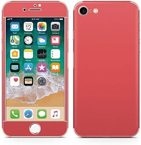 igsticker iPhone SE 2020 iPhone8 iPhone7 専用 スキンシール 全面スキンシール フル 背面 側面 正面 液晶 ステッカー 保護シール 008955 その他 シンプル 無地 赤