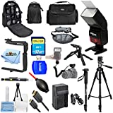 ALL YOU NEED Accessory Bundle for T6i/T6s - 750D/760D Includes Professional Flash, Backpack, Tripods, Monopod, Extra Charger + Much More