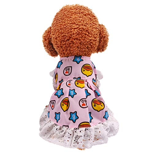 Shirazawa Sweet Puppy Dog Dress Bow Lace Shirt Skirt Tutu Pet Cute Clothes Official Costume, Vest for Small Cat]()