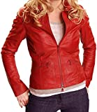 Hollywood Jacket Once Upon a Time Emma Swan Red Faux Leather Jacket (M, Red)
