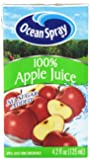 Ocean Spray 100% Apple Juice Box, 4.23 Ounce Box (Pack of 40)