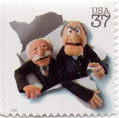 (USA Postage Stamp Single 2005 The Muppets Statler And Waldorf Issue 37 Cents Scott #3944E Self)