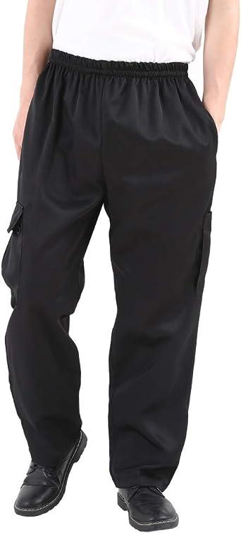 Amazon Com Pantalones De Chef Para Hombre Y Mujer Color Negro Pantalones De Trabajo Florales Para Restaurante Y Uniforme De Cocina Estilo Cargo Pantalones De Chef Clothing