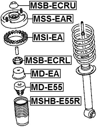 Rear Shock Absorber Bushing For Mitsubishi Mr235627