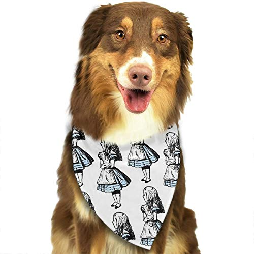 OURFASHION Small Alice in Wonderland Bandana Triangle Bibs Scarfs Accessories for Pet Cats and Puppies.Size is About 27.6x11.8 Inches -