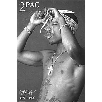 TUPAC POSTER 2Pac Shakur Smoking RARE HOT NEW 24x36
