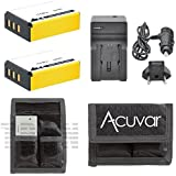 2 NP-85 Replacement Batteries + Car / Home Charger + Acuvar Battery Pouch for Fujifilm FinePix S1, SL1000, SL305, SL300, SL280, SL260, SL240, SL-305, SL-300, SL-280, SL-260, SL-240 and Other Models