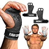 JerkFit RAW Grips, 2 Finger Leather Gymnastics Grips with Full Palm...