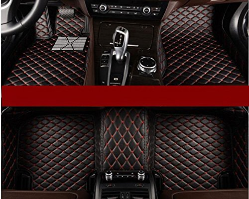 (YAOJINYI XPE Leather 5D Diamond Designed No Smell Anti-Slip car Floor mats for Bentley Flying spur 2014-2017 4 Seats (Black))