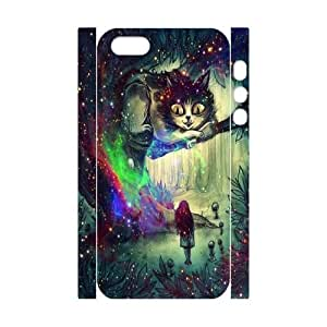 Customized Space Cheshire Cat iPhone 5 3D Cover Case, Space Cheshire Cat Custom 3D Phone Case for iPhone 5,iPhone 5s at Lzzcase BY icecream design