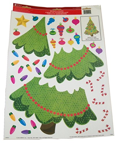 Christmas Reusable Window Clings ~ Build Your Own Christmas Tree (40 Clings, 1 Sheet)