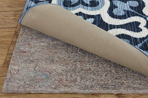 - Mohawk Home Dual Surface Felt and Latex Non Slip Rug Pad, 8'x10' Oval, 1/4 Inch Thick, Safe for Hardwood Floors and All Surfaces