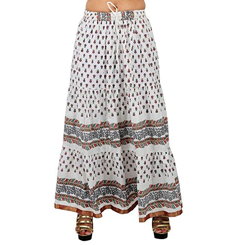 Indian Handicrfats Export Elegant Multicolor Cotton Solid Skirt