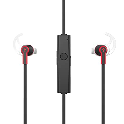 Ryght Airtrainer Wireless Bluetooth V4.1 Earphones with Mic for Running, Black Red Bluetooth Headsets
