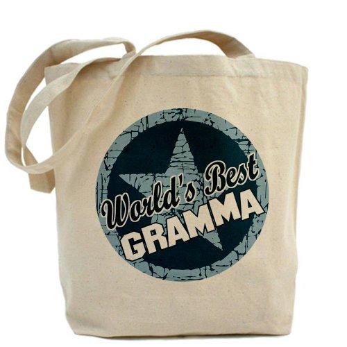 CafePress–Worlds Best Gramma–Borsa di tela naturale, panno borsa per la spesa