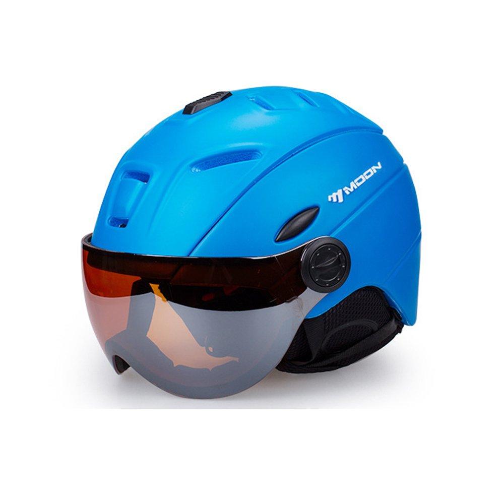 2-in-1 Visor Ski Snowboard Helmet Detachable Snow Mask Anti-Fog Anti-uv Integrated Goggle Shield Low Weight Adults Men Women