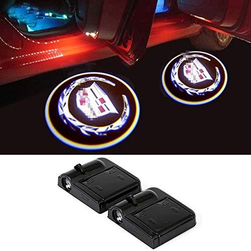 2 Pcs Wireless Car Door LED Welcome Laser Projector Logo Lights Compatible with CTS,SRX, XT5, ATS,STS, XTS, SXT, Etc.(C-A-D-I-L-L-A-C)