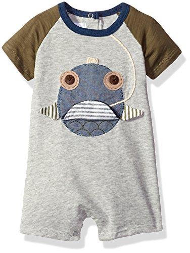Boys Shortall (Mud Pie Baby Boys' Shortall One Piece, Fish Face, 12-18 Months)