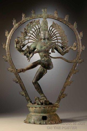 "Shiva Dancing as Nataraja, Chola Dynasty Statue - 24""x36"" Poster"