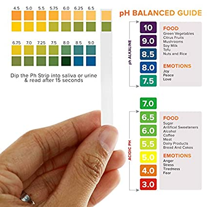 Amazon.com: Tiras de prueba de pH 200 ct para pruebas de pH ...